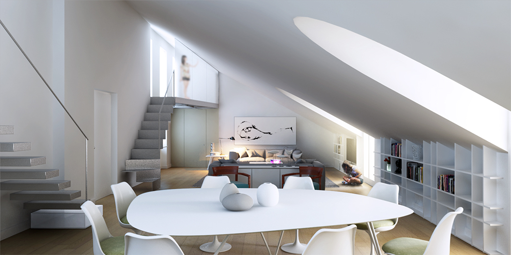 con3studio architetti torino Bodoni_render